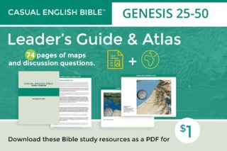 promo for leader's guide and atlas for Genesis 25-50 by Stephen M. Miller