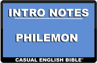 intro notes for Philemon