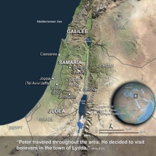 Map of Israel for Acts 9 copyright Stephen M Miller
