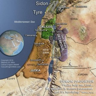 map of Holy Land in time of Jesus