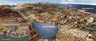 MAP OF SEA OF GALILEE AND JORDAN RIVER