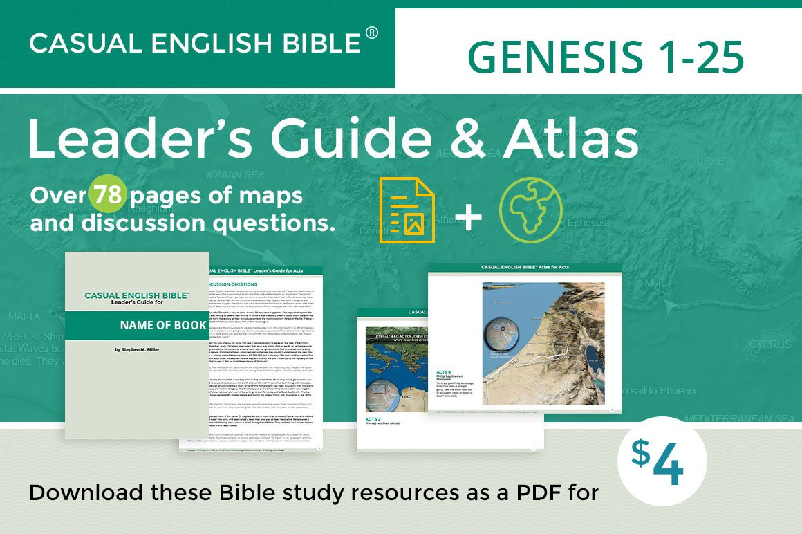 PROMO for Genesis 1-25 leader's guide and atlas by Stephen M. Miller
