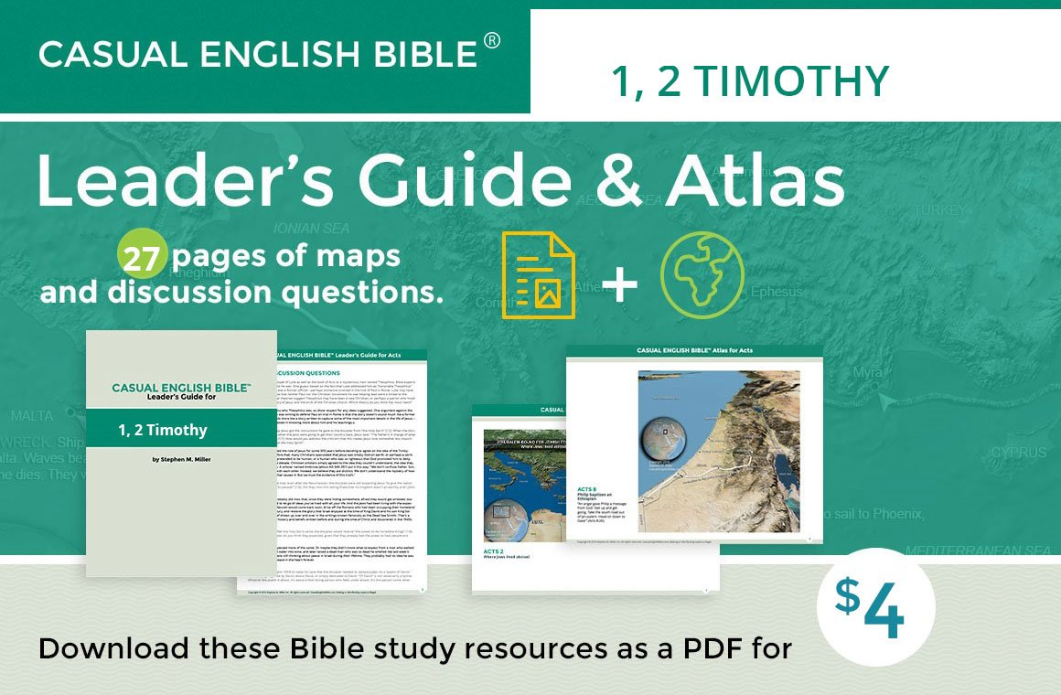 Promo 1 2 Timothy leader's guide and atlas