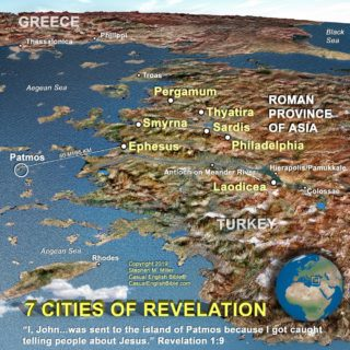 map of seven cities of Revelation